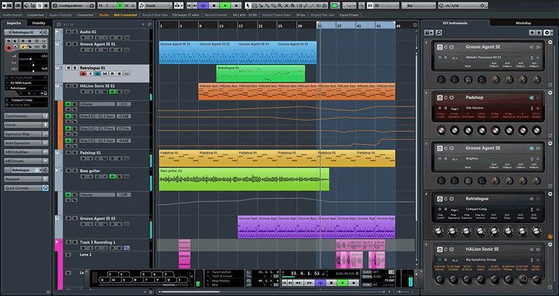 Screenshot Cubase
