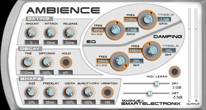 Smartelectronix Ambience Best Free Reverb Plugin VST