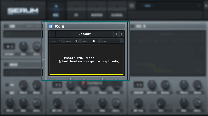 Serum Wavetable Drag & Drop Image on OSC A Tutorial