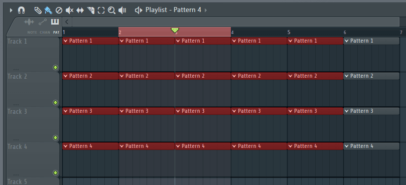 FL Studio: Make or adjust loop selection.