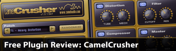 Banner Free Plugin Review CamelCrusher Music Production Blog Skin Preset Distortion