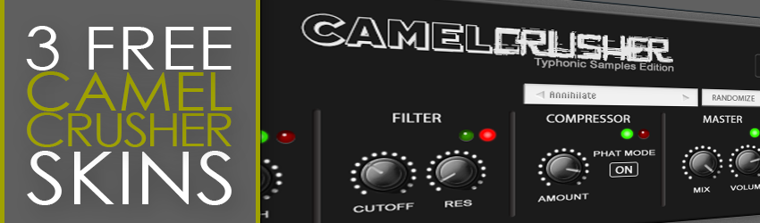 Typhonic Samples - 3 Free CamelCrusher Skins Dark Light VST Plugin