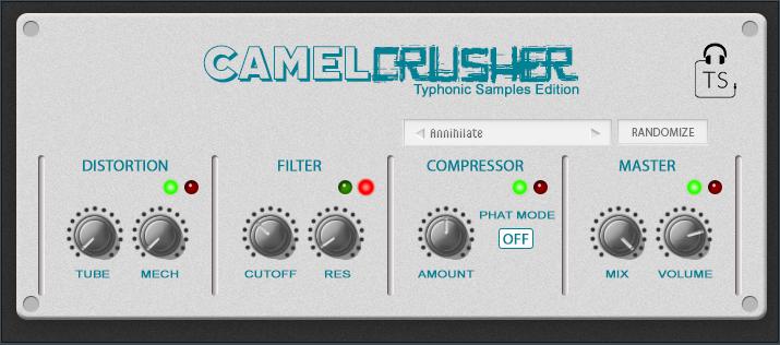Typhonic Samples Custom Light Skin for CamelCrusher Free Download Plugin VST