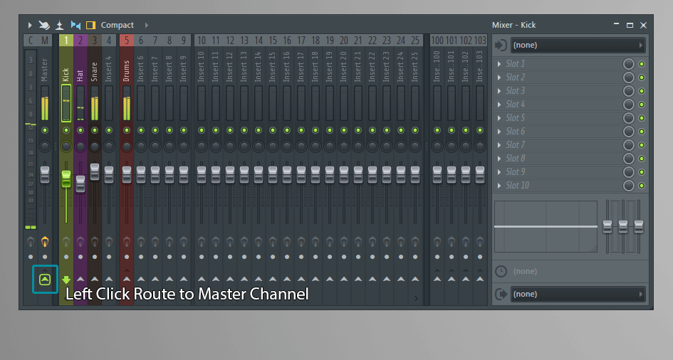 How to add Mixer Channels to a Group in FL Studio Bus Send Tracks Tutorial 12 Mixing Music Production Blog