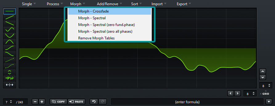 Morph Options Serum Wavetable Editor