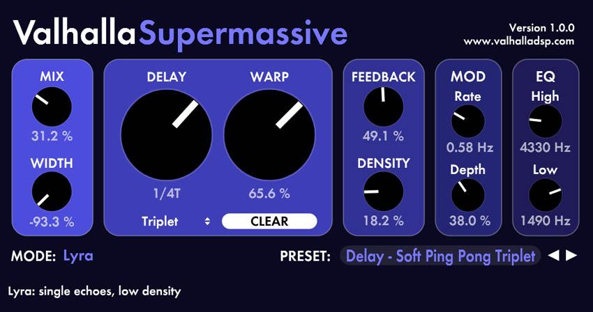 Free Presets Valhalla Supermassive